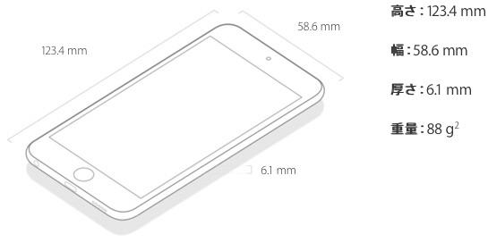 iPod touch sizej