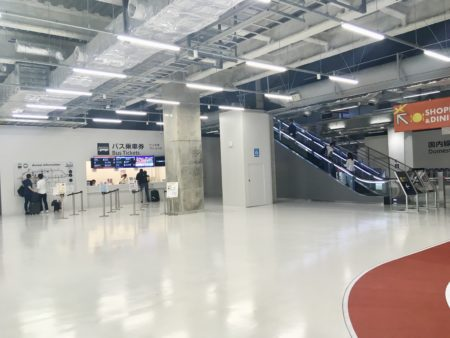 第3ターミナルのバスチケット売り場