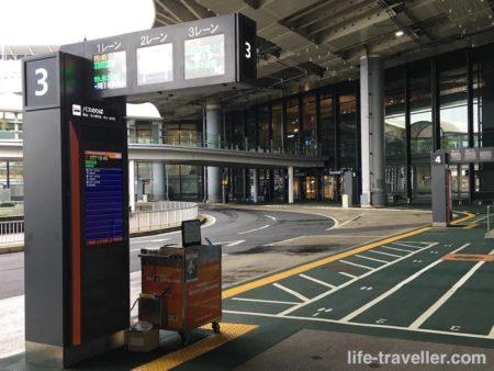 第1ターミナルのバス乗り場