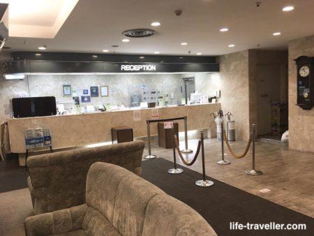 成田U-シティホテルのフロント