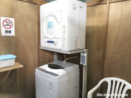 成田U-シティホテルの洗濯機と乾燥機