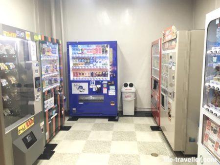 成田ビューホテルの自動販売機コーナー