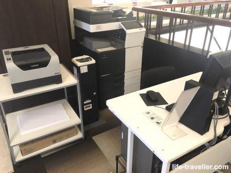 成田ビューホテルのパソコン